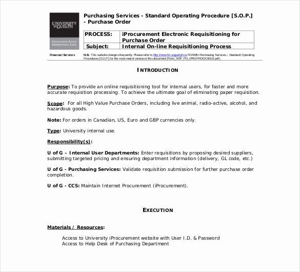 13 Standard Operating Procedure Templates Pdf Doc
