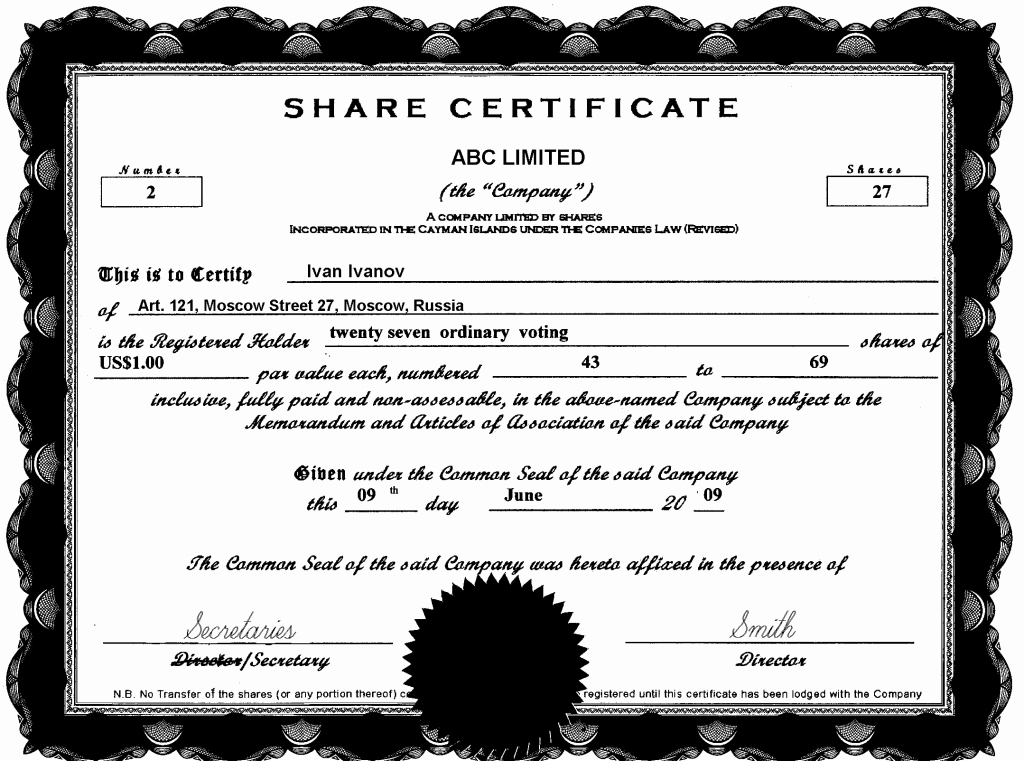 13 Stock Certificate Templates Excel Pdf formats