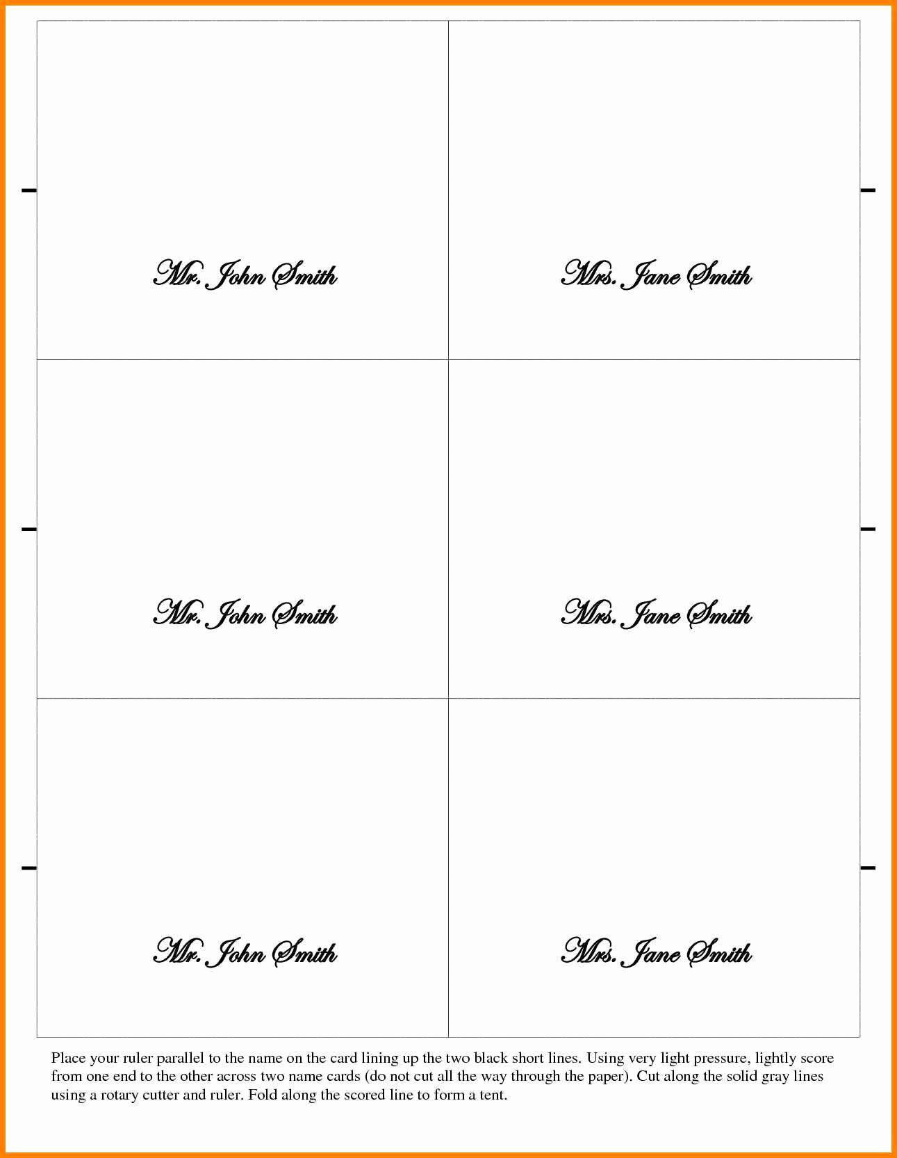 13 Table Card Template