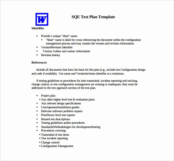 13 Test Plan Templates – Free Sample Example format