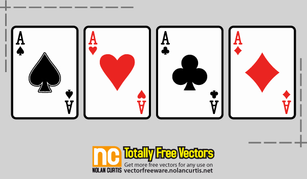 13 Vector Playing Card Template Free Vector