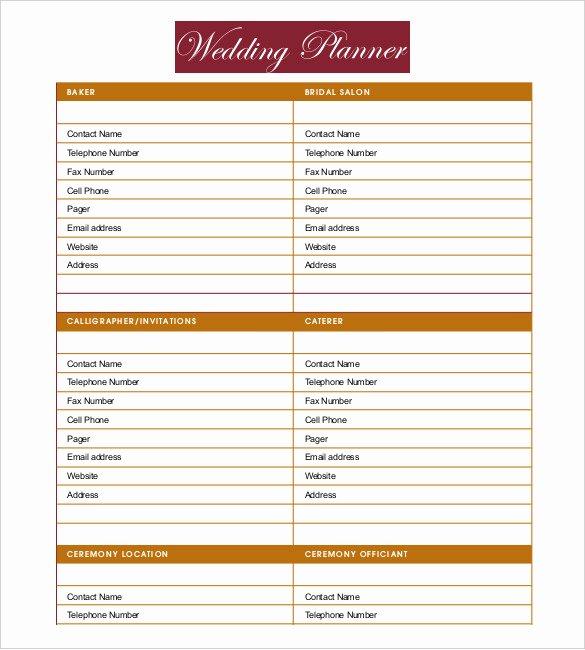 13 Wedding Planner Templates – Free Sample Example