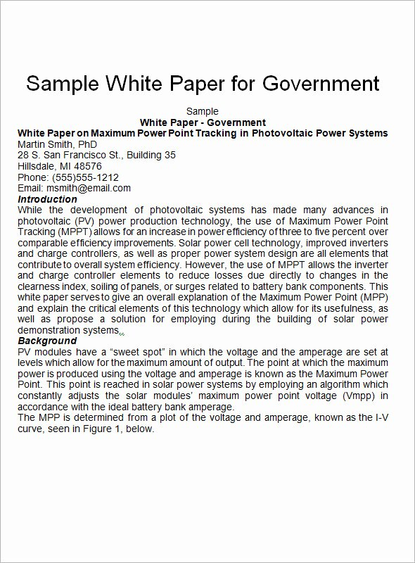 13 White Paper Templates – Pdf Word