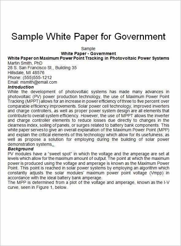 13 White Paper Templates – Pdf Word