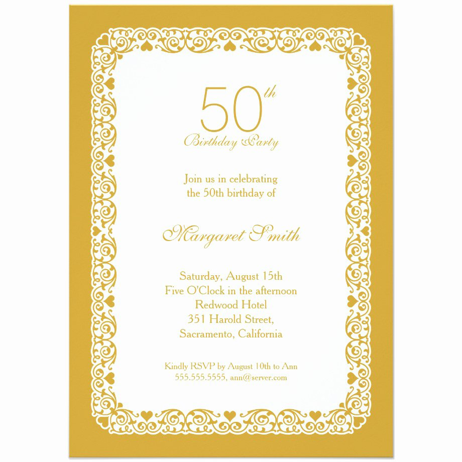 14 50 Birthday Invitations Designs – Free Sample