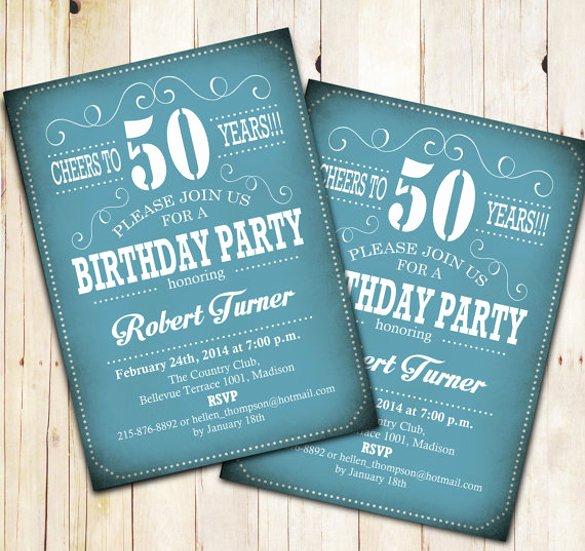 14 50th Birthday Invitations Free Psd Ai Vector Eps