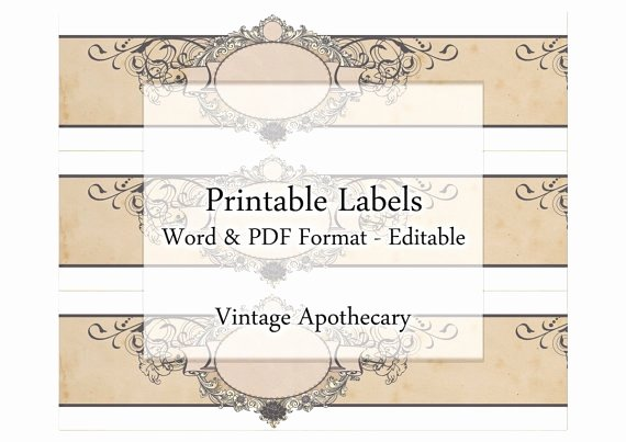 Printable soap Labels Editable Label Cigar Band Set organic