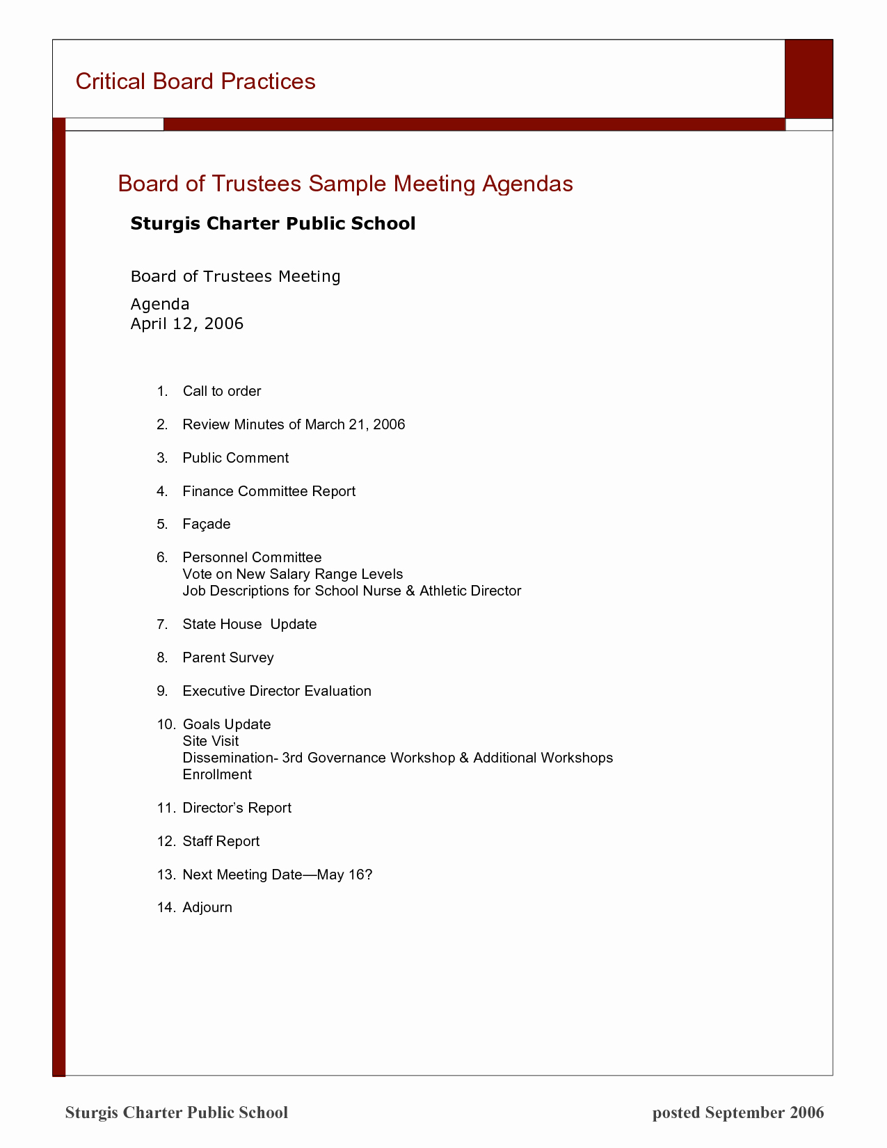 14 Best Of Church Board Meeting Minutes format