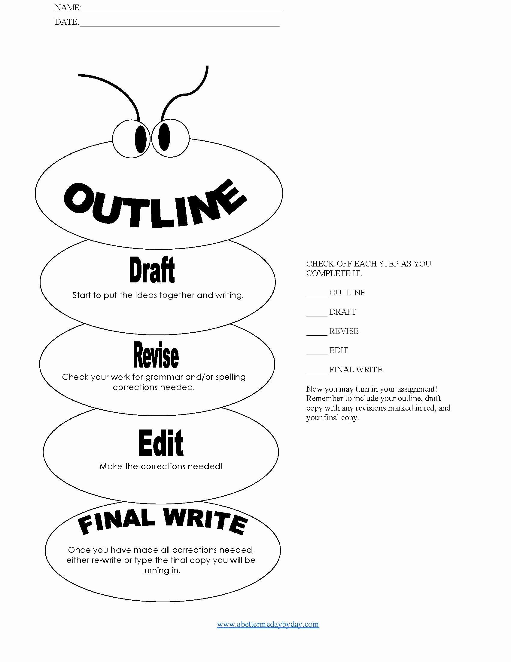 14 Best Of College Essay Outline Worksheet Essay