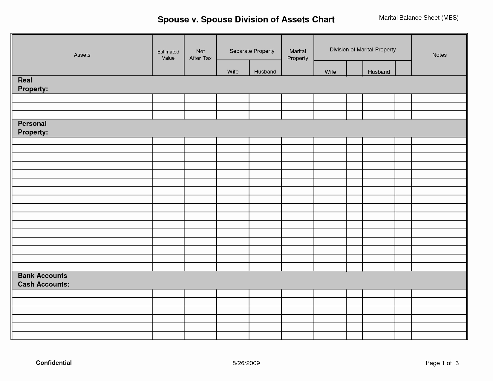 14 Best Of Personal Financial Statement Template