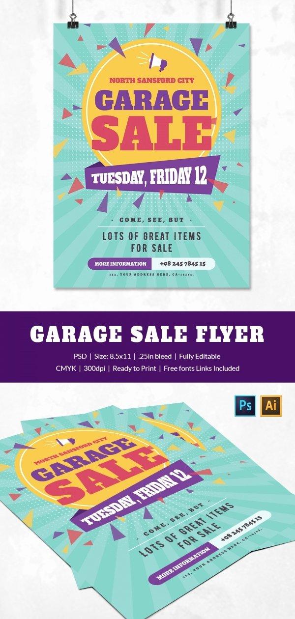 14 Best Yard Sale Flyer Templates & Psd Designs