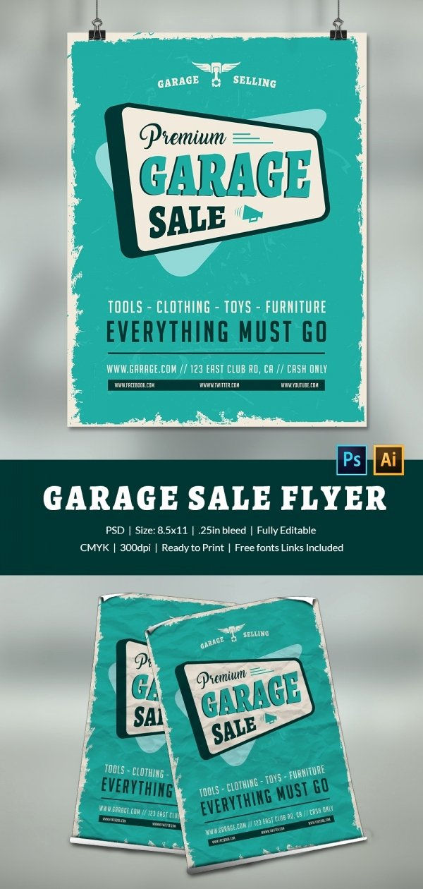14 Best Yard Sale Flyer Templates & Psd Designs