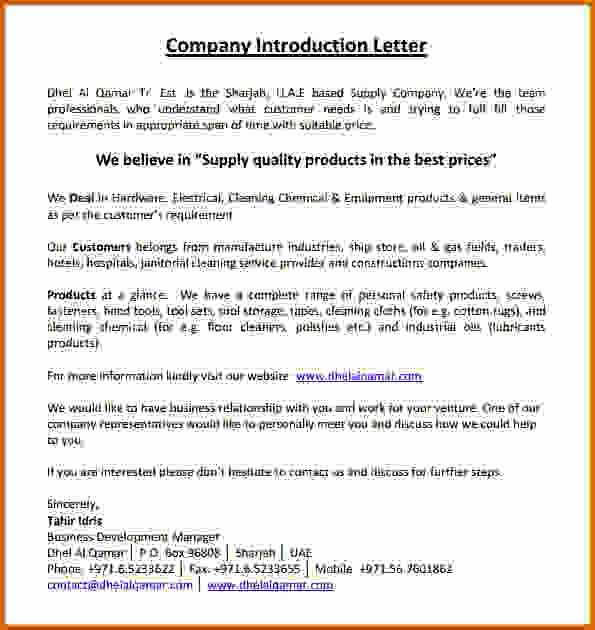 14 Construction Pany Introduction Letter