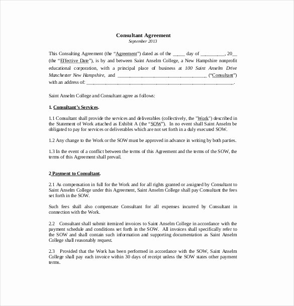14 Consultant Agreement Templates Word Pdf Pages