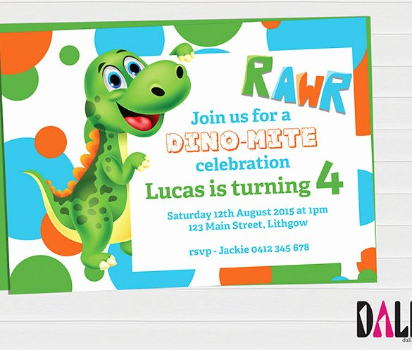 14 Dinosaur Birthday Invitations Psd Vector Eps Ai