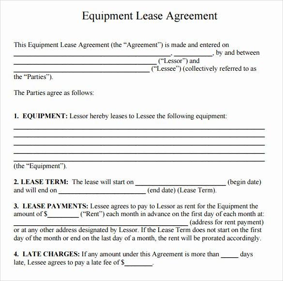 14 Equipment Rental Agreement Templates