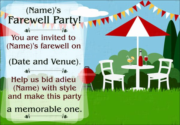 14 Farewell Potluck Invitations Jpg Vector Eps Ai