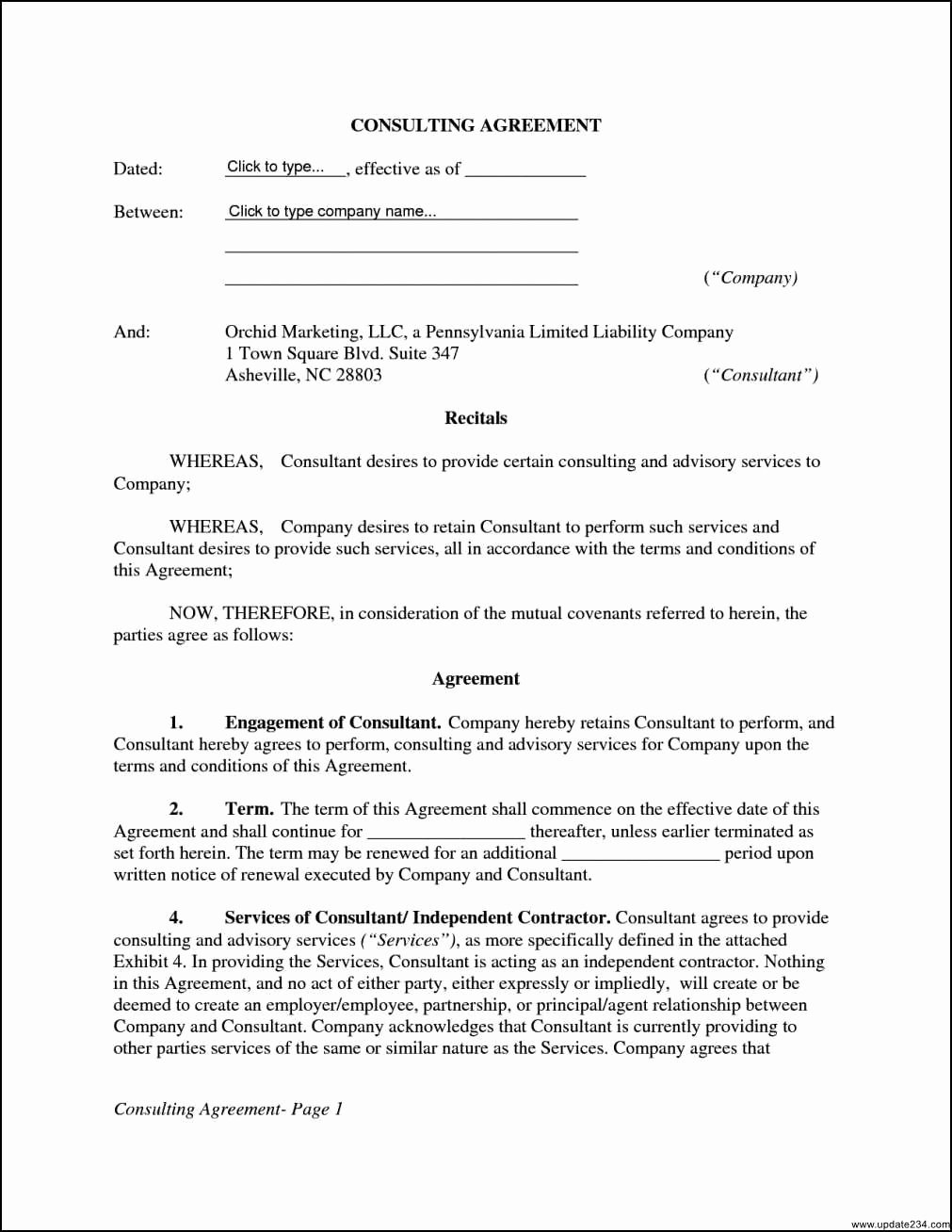 14 Fast Free Consulting Agreement Template Word Wu