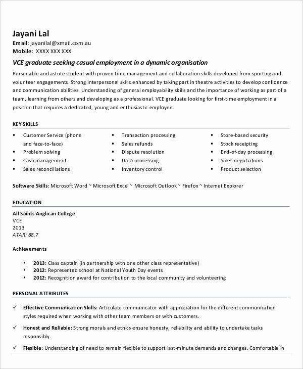 14 First Resume Templates Pdf Doc