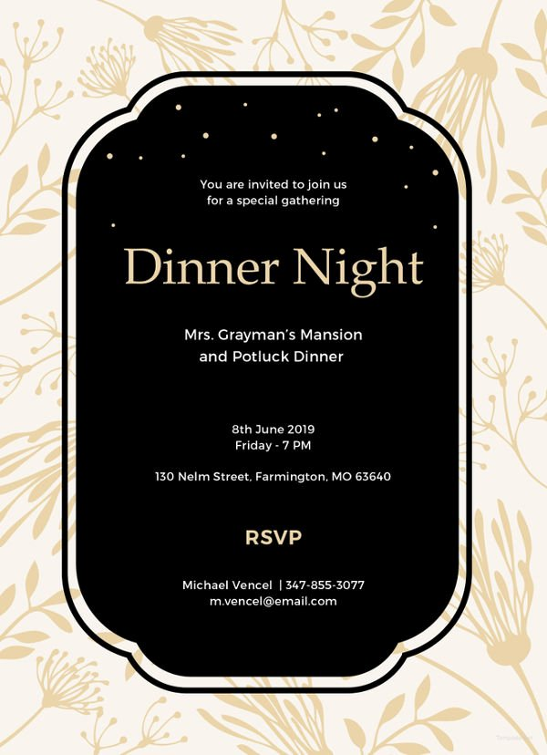 14 formal Dinner Invitations Psd Word Ai Publisher