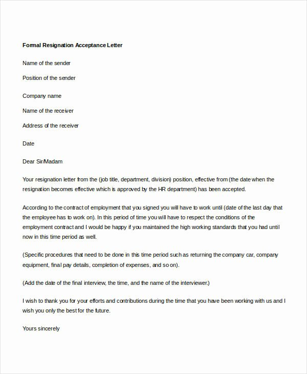 14 formal Resignation Letters Free Sample Example