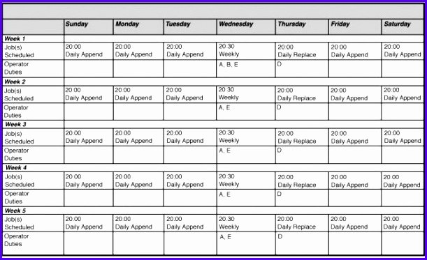 14 Free Excel Employee Schedule Template Exceltemplates