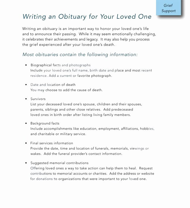 14 Free Obituary Templates to Help You Out Download In Word