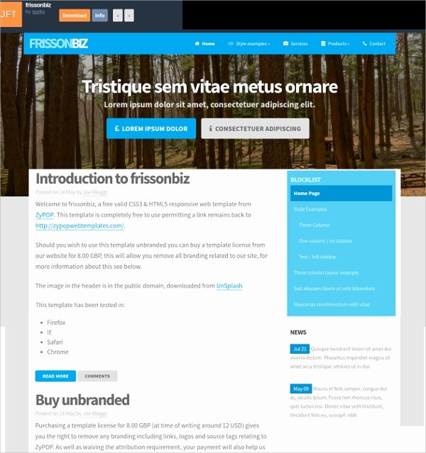 14 Free Responsive HTML5 Website Templates & themes
