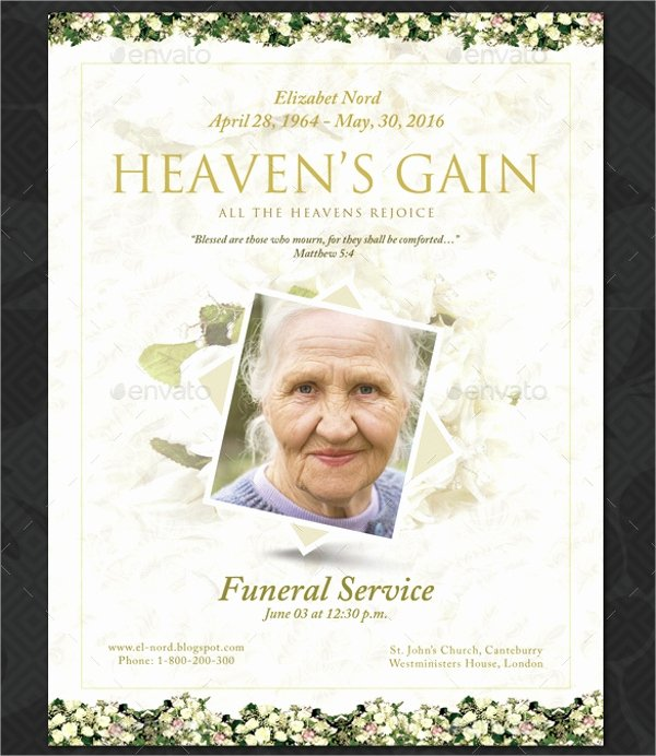14 Funeral Memorial Program Templates Psd Ai Vector