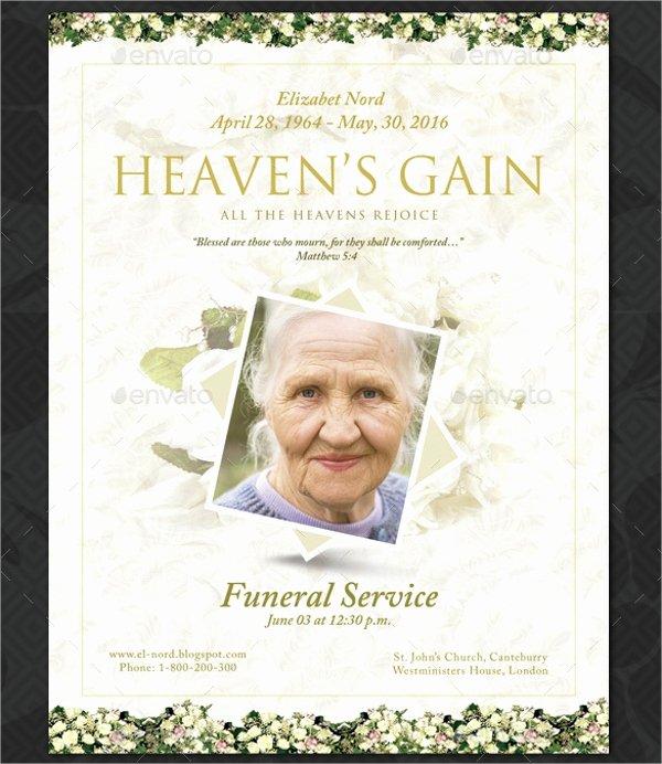 14 Funeral Memorial Program Templates Psd Ai Vector