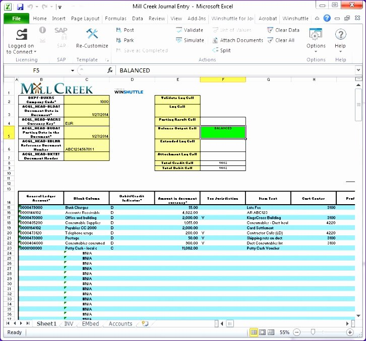 14 General Journal Excel Template Exceltemplates
