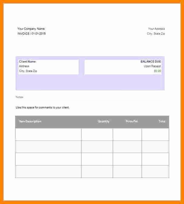 14 Google Doc Invoice Template