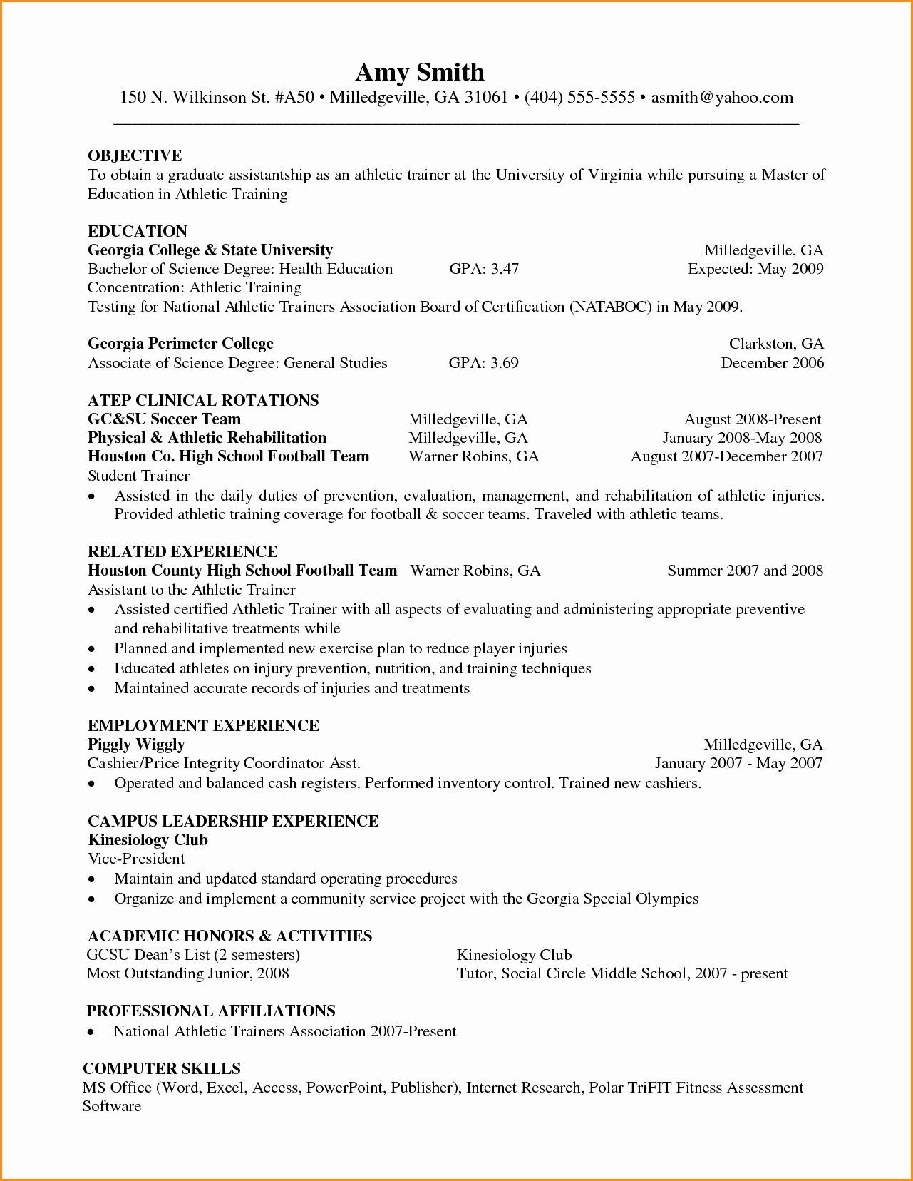 14 Graduate School Resume Objective