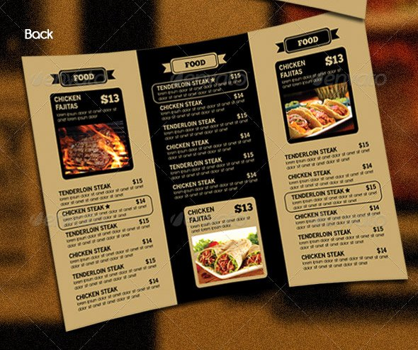 14 Great Tri Fold Restaurant Menu Psd Templates – Design
