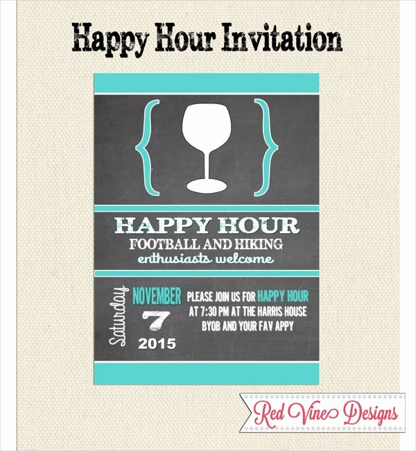 14 Happy Hour Invitation Designs & Templates Psd Ai