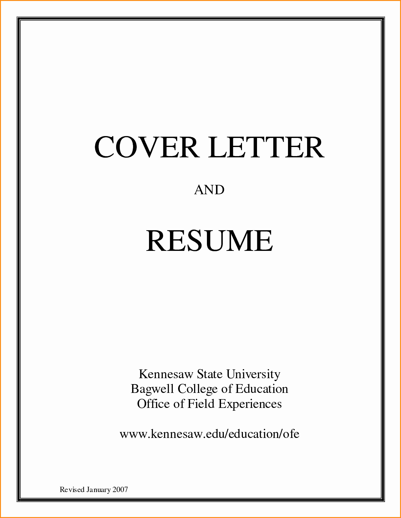 create resume and cover letter