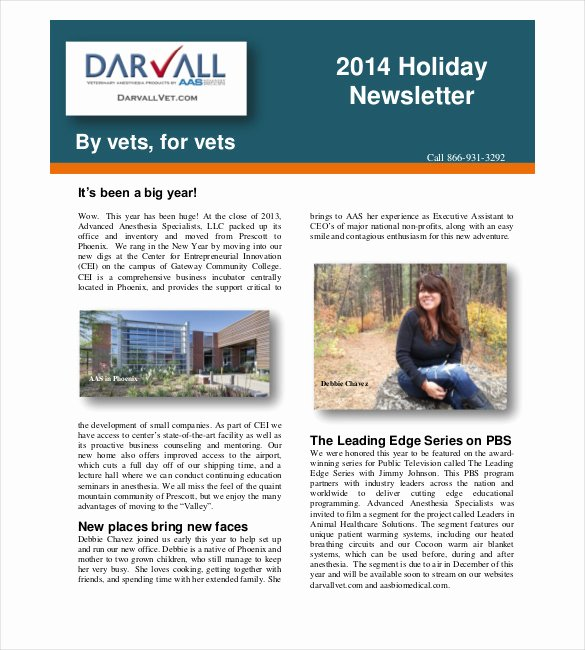 14 Holiday Newsletter Template – Free Sample Example