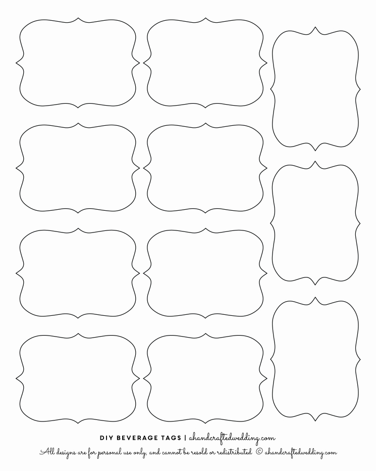 14 Label Shapes Template Label Shapes Clip Art