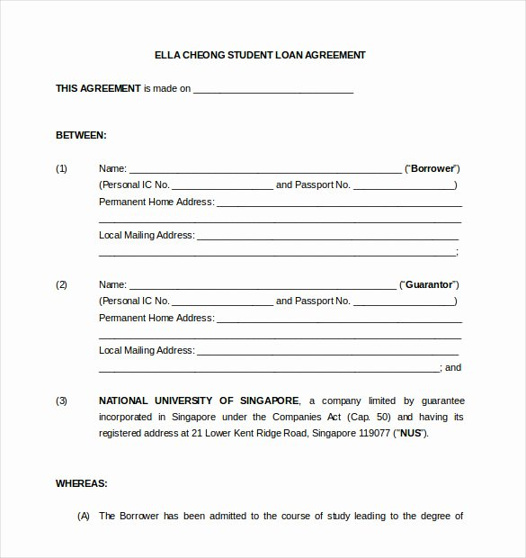14 Loan Agreement Templates – Free Word Pdf format