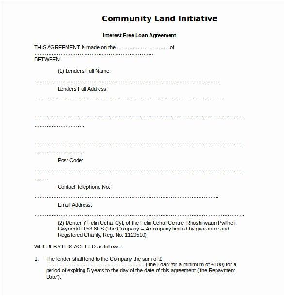 14 Loan Agreement Templates – Free Word Pdf format