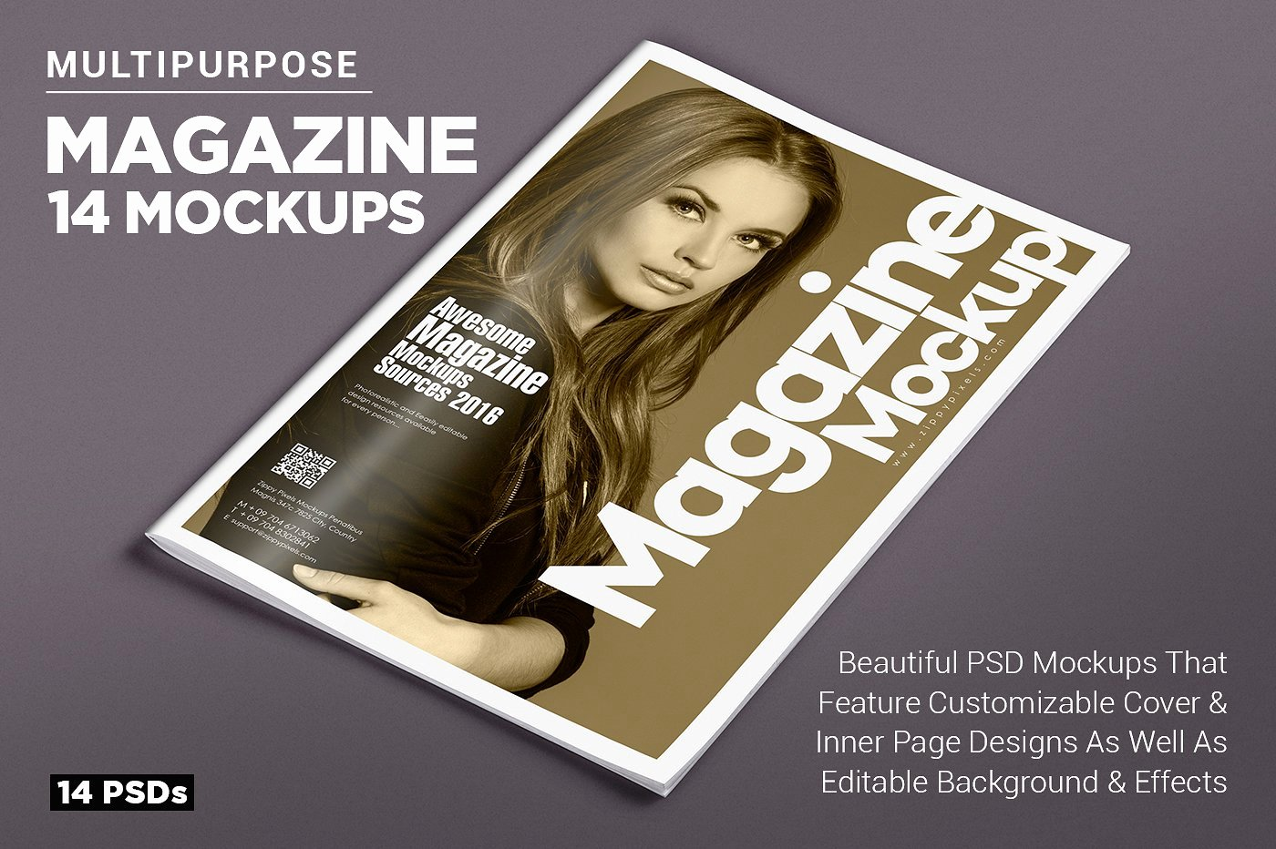 14 Magazine Mockups Vol 7 Product Mockups Creative Market