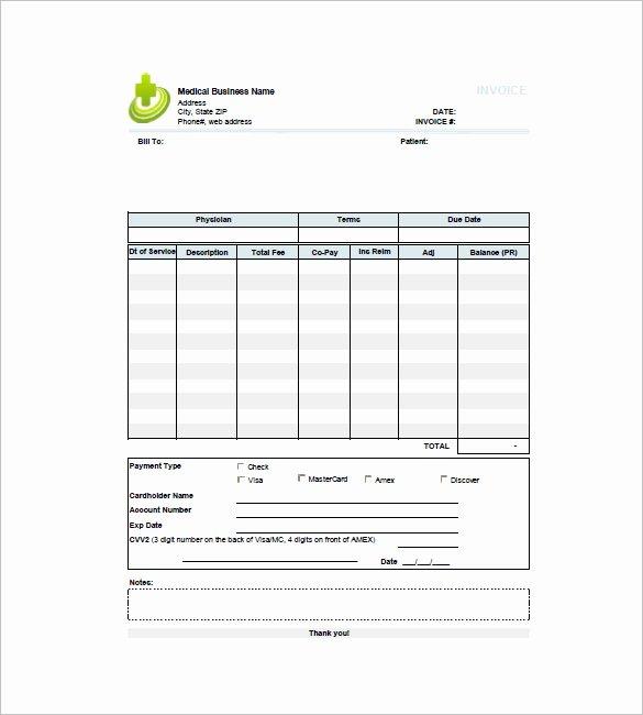 14 Medical Invoice Templates Doc Pdf