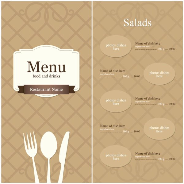14 Menu Design Templates Free Download Menu