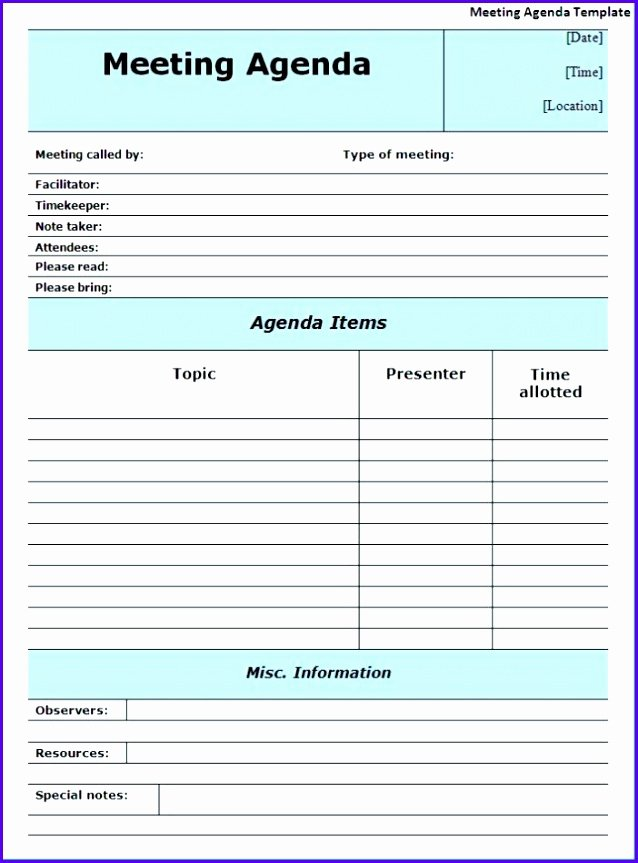 14 Minutes Meeting Template Excel Exceltemplates