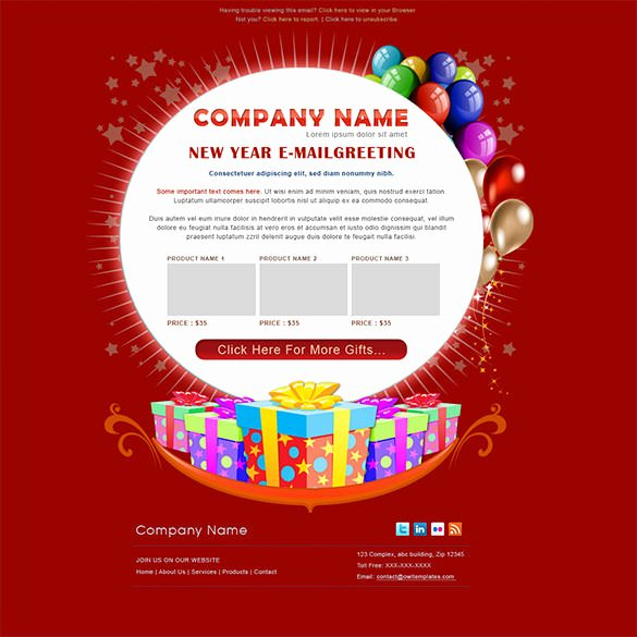 14 New Year Email Templates – Free Psd PHP HTML Css