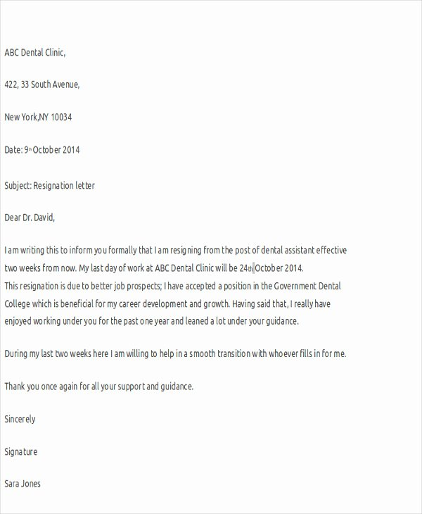 14 Nurse Resignation Letter Templates Word Pdf