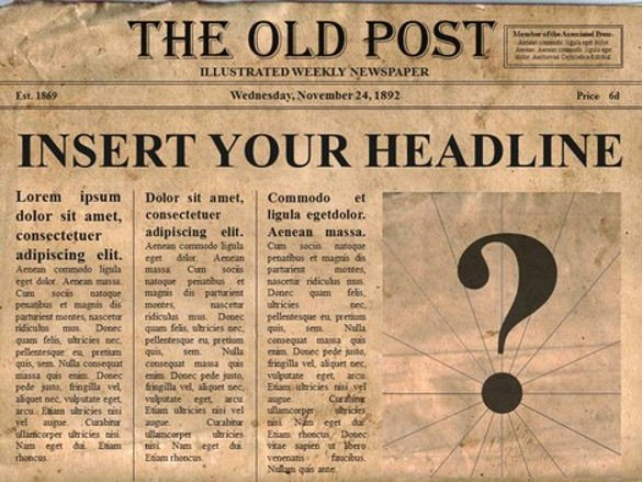 14 Old Newspaper Templates Free Sample Example format