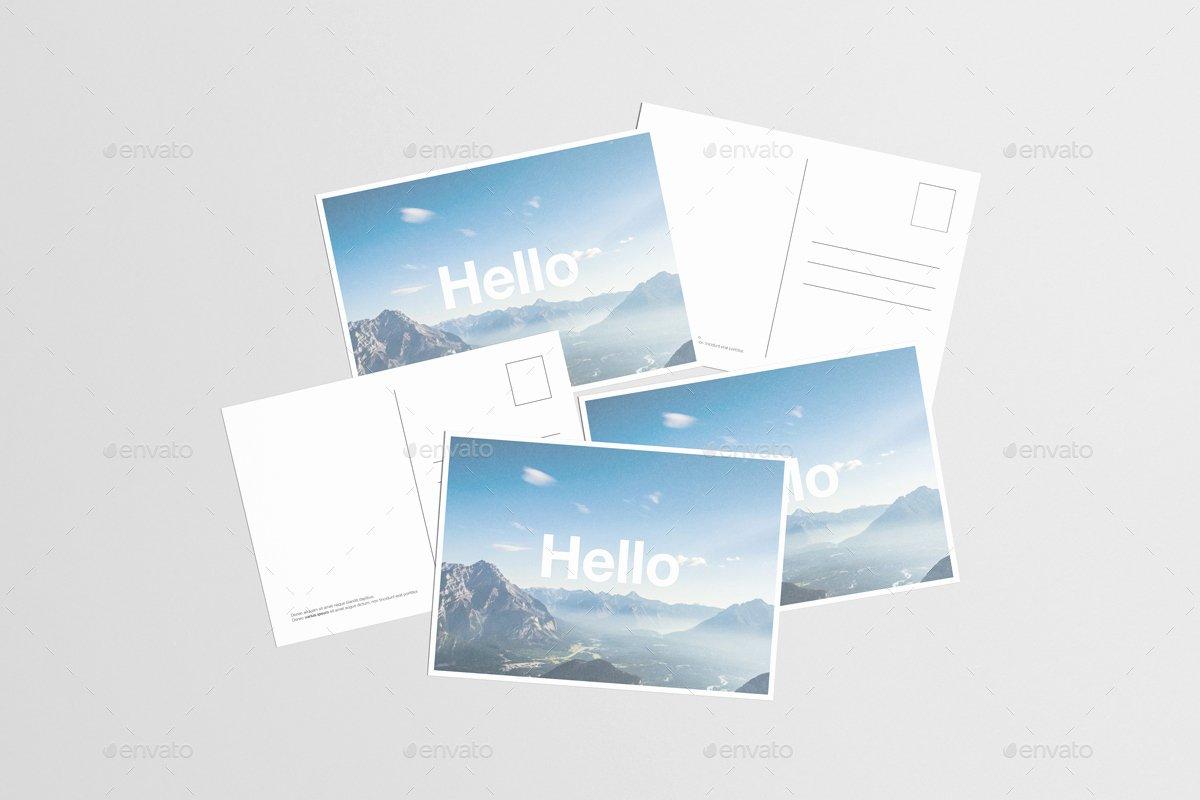 14 Premium & Free Postcard Mock Ups In Psd