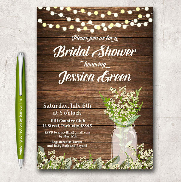 14 Printable Bridal Shower Invitations Examples