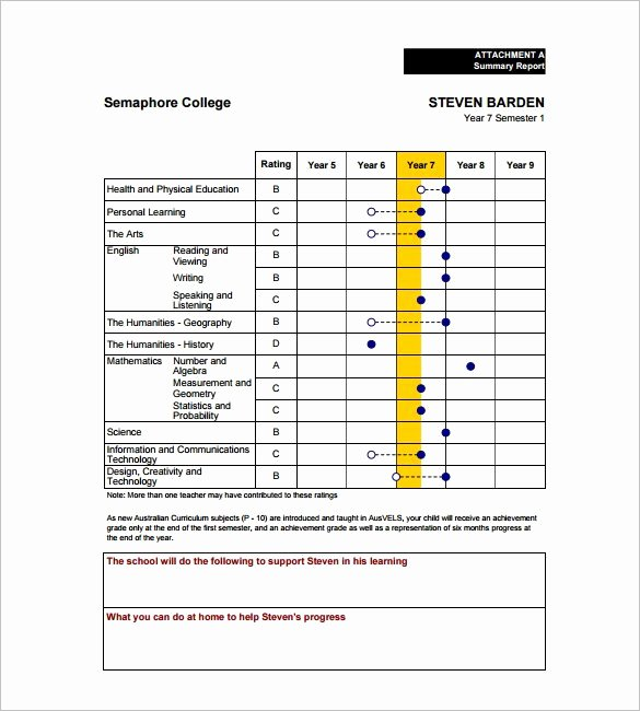 14 Progress Report Card Templates Word Pdf Docs Pages